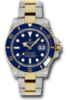 Rolex Watches: Submariner Steel and Gold 116613 blu