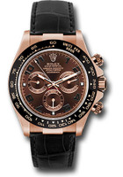 Rolex Watches: Daytona Everose Gold - Leather Strap 116515 LNbr