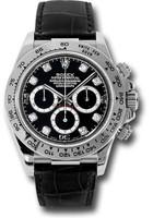 Rolex Watches: Daytona White Gold - Leather Strap 116519 bkd