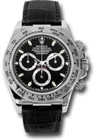 Rolex Watches: Daytona White Gold - Leather Strap 116519 bksbk