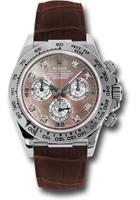 Rolex Watches: Daytona White Gold - Leather Strap 116519 dkltmd