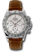 Rolex Watches: Daytona White Gold - Leather Strap 116519 mopdia