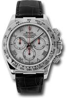 Rolex Watches: Daytona White Gold - Leather Strap 116519 mt