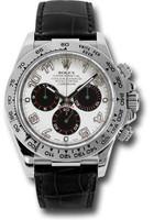 Rolex Watches: Daytona White Gold - Leather Strap 116519 wa