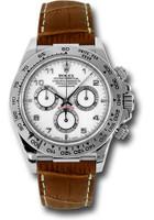 Rolex Watches: Daytona White Gold - Leather Strap 116519 wabr