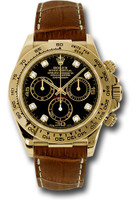 Rolex Watches: Daytona Yellow Gold - Leather Strap 116518 bkdbr