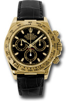 Rolex Watches: Daytona Yellow Gold - Leather Strap 116518 bksbk