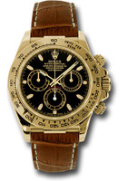 Rolex Watches: Daytona Yellow Gold - Leather Strap 116518 bksbr