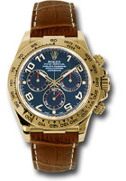 Rolex Watches: Daytona Yellow Gold - Leather Strap 116518 blabr