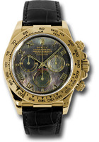 Rolex Watches: Daytona Yellow Gold - Leather Strap 116518 dkmbk