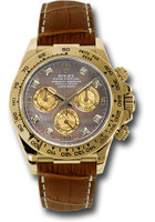 Rolex Watches: Daytona Yellow Gold - Leather Strap  116518 dkymbr