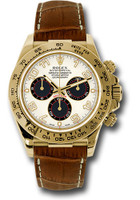Rolex Watches: Daytona Yellow Gold - Leather Strap  116518 ibkbr