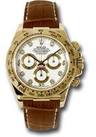 Rolex Watches: Daytona Yellow Gold - Leather Strap 116518 wdbr