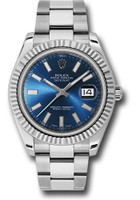 Rolex Watches: Datejust II 41mm Steel and White Gold - Fluted Bezel - Oyster 116334 blio