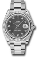 Rolex Watches: Datejust II 41mm Steel and White Gold - Fluted Bezel - Oyster 116334 rdo