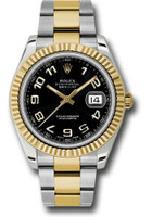 Rolex Watches: Datejust II 41mm Steel and Yellow Gold - Fluted Bezel - Oyster 116333 bkao