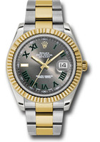 Rolex Watches: Datejust II 41mm Steel and Yellow Gold - Fluted Bezel - Oyster 116333 gro