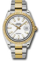 Rolex Watches: Datejust II 41mm Steel and Yellow Gold - Fluted Bezel - Oyster 116333 wio