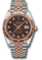 Rolex Watches: Datejust 41 Steel and Pink Gold - Fluted Bezel - Jubilee 126331 chodj