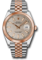 Rolex Watches: Datejust 41 Steel and Pink Gold - Smooth Bezel - Jubilee 126301 suij