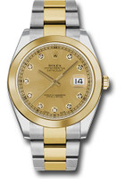 Rolex Watches: Datejust 41 Steel and Yellow Gold - Smooth Bezel - Oyster 126303 chdo