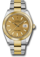 Rolex Watches: Datejust 41 Steel and Yellow Gold - Smooth Bezel - Oyster 126303 chio