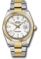 Rolex Watches: Datejust 41 Steel and Yellow Gold - Smooth Bezel - Oyster 126303 wio