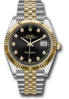 Rolex Watches: Datejust 41 Steel and Yelow Gold - Fluted Bezel - Jubilee 126333 bkdj