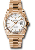 Rolex Watches: Day-Date President Pink Gold - Fluted Bezel - President 118235 wsp