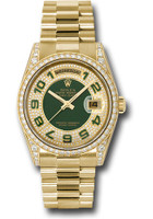Rolex Watches: Day-Date President Yellow Gold - 52 Dia Bezel - Dia Lugs - President  118388 pgap