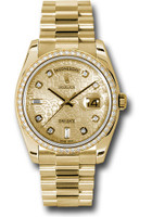Rolex Watches: Day-Date President Yellow Gold - 52 Dia Bezel - President 118348 chjdp