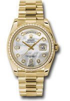 Rolex Watches: Day-Date President Yellow Gold - 52 Dia Bezel - President  118348 mdp