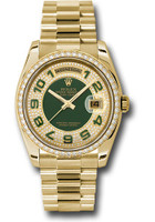 Rolex Watches: Day-Date President Yellow Gold - 52 Dia Bezel - President 118348 pgap