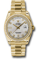 Rolex Watches: Day-Date President Yellow Gold - 52 Dia Bezel - President 118348 sdp