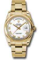 Rolex Watches: Day-Date President Yellow Gold - Domed Bezel - Oyster  118208 wro