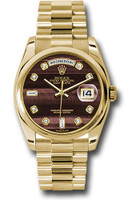 Rolex Watches: Day-Date President Yellow Gold - Domed Bezel - President 118208 bedp