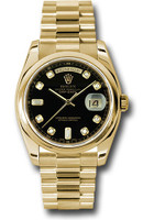 Rolex Watches: Day-Date President Yellow Gold - Domed Bezel - President 118208 bkdp