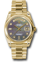 Rolex Watches: Day-Date President Yellow Gold - Domed Bezel - President 118208 dkmdp