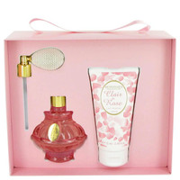 Clair De Rose by Berdoues Gift Set -- 2.6 oz Eau De Toilette Spray + 2.5 oz Body Lotion