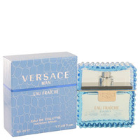Versace Man by Versace Eau Fraiche Eau De Toilette Spray (Blue) 1.7 oz