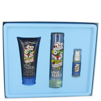 Gift Set -- 1.7 oz Eau De Toilette Spray + 3 oz Hair & Body Wash + .25 oz Mini EDT