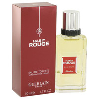 HABIT ROUGE by Guerlain Eau De Toilette Spray 1.7 oz