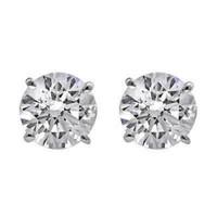 1.5 CTTW Diamond Stud Earrings (D/VS1 Certified)