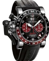 Graham Chronofighteroversize Gmtbordeaux Steel