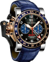 Graham Chronofighteroversize Gmt Bluesteel & Gold