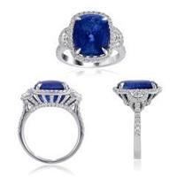 11.23 Ct Sapphire & Diamond Ring (rd 0.77ct, Hm 0.26ct, Sapphire 10.20ct)