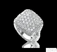 Ziva Square Shaped Pave Diamond Ring