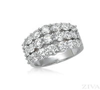 Ziva 3-Row Diamond Anniversary Ring