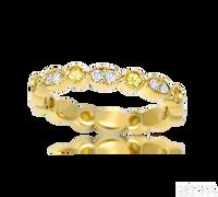 Ziva Yellow Sapphire & Diamond Eternity Ring