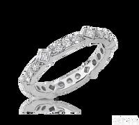 Ziva Eternity Ring with Princess Cut & Round Diamonds